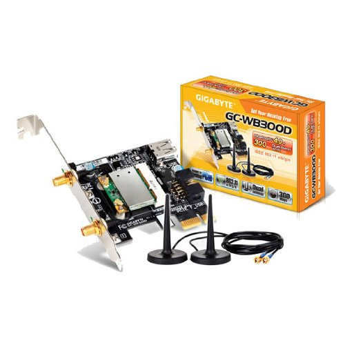 Gigabyte GC-WB300D 1Mbps/2Mbps/3Mbps Data Rate Exclusive Bluetooth 4.0/Wi-Fi Expansion Card Motherboard by Gigabyte