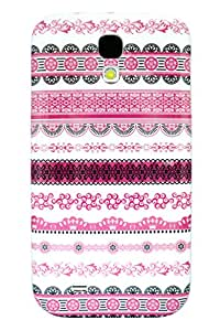 AceOfCase - Samsung Galaxy S4 / i9500 / i9505 / i9506, Pink Indian Ethnic Pattern Snap on Hard Phone Case / Back Cover.