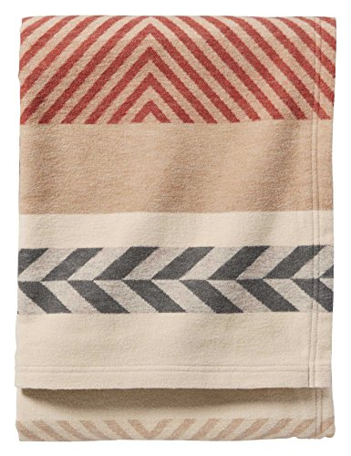 Pendleton Mojave Cotton Jacquard Blanket, Beige, King Size (Blanket Cotton Pendleton)