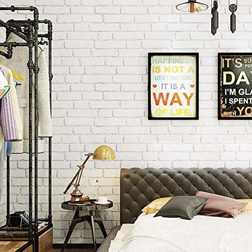 Giow Wallpaper, Brick Wallpaper Modern Minimalist White Brick Alphabet Letters Clothing Store Living Room Background Wallpaper ()
