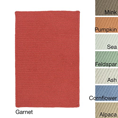 Garnet Braided Rug - Colonial Mills Sunbrella Solid Indoor/Outdoor Performance Braided Rug USA MADE - 6' x 9' Garnet