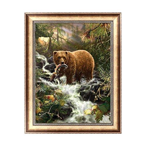 Arich Bear Stream 5D Diamond Embroidery Painting Cross Stitch DIY Craft Home Decor