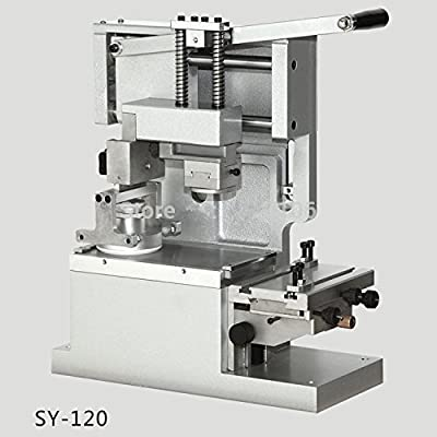 SY-120 Desktop Manual Pad Printer,round pad printing machine,ink printer,move ink pad printing machine(with ink cup,white color)