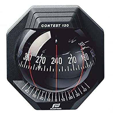 Nautos 39669 - Contest 130 Compass - Vertical Mount - Black Bezel With Black Card-plastimo by Plastimo