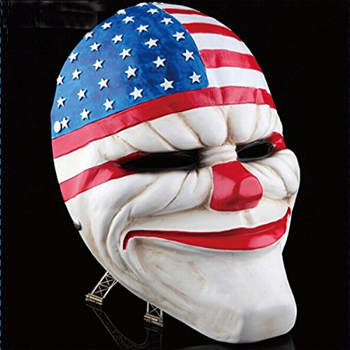 Payday 2 Chains Costume (2015 - Halloween Masquerade Payday 2 Mask Dallas Chains Wolf Hoxton Heist joker scary clown costume Party Masks)