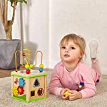 TOP-BRIGHT-Wooden-Activity-Cube-1-Year-Old-Shape-Shorter-Bead-Maze-Toy-Educational-Baby-Gifts-for-One-Year-Old-Boys-and-Girls-Small-Size