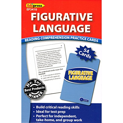 Edupress Reading Comprehension Practice Cards, Figurative Language, Blue Level (EP63410)