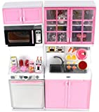 """'Modern Kitchen 16' Battery Operated Toy Kitchen Playset, Perfect for Use with 11-12"""" Tall Dolls"""
