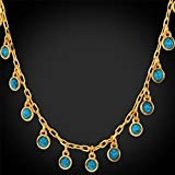GDSTAR ''Body Chain 18K Gold Plated ''''18K'''' StampJewelry Green Turquoise''