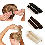 Hot 2Pcs Ladies Style Hair Styling Tools s Braiders Curling Hair Rope Hair Band Beige