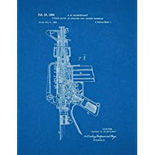 "Colt AR-15 Semi-Automatic Rifle Patent Print Art Poster Blueprint (13"" x 19"")"