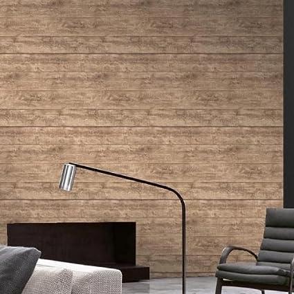 Wood Panel Super Realistic Wood Effect Wallpaper In Beige Full