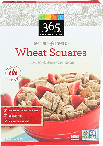 365 Everyday Value, Bite Sized Wheat Squares, 14 Ounce