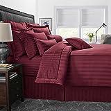 Bamboo Collection 1800 Series Goose Down Alternative Comforter - Burgundy (King)
