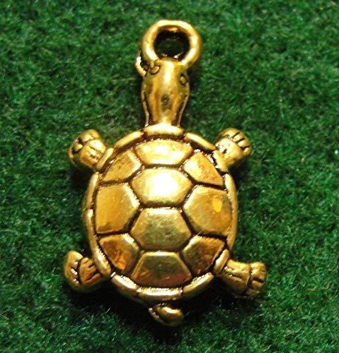 - 50Pcs. Wholesale Tibetan Antique Gold Turtle Tortoise Charms Pendant Drops Q0885 Crafting Key Chain Bracelet Necklace Jewelry Accessories Pendants