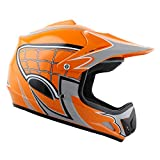 WOW Youth Kids Motocross BMX MX ATV Dirt Bike Helmet Spider Orange