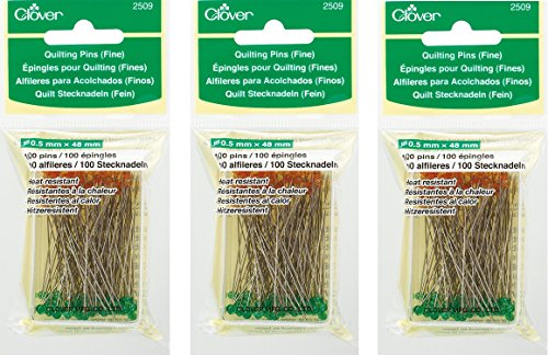 Clover Quilting Pins, Fine (3 Pack) by Clover