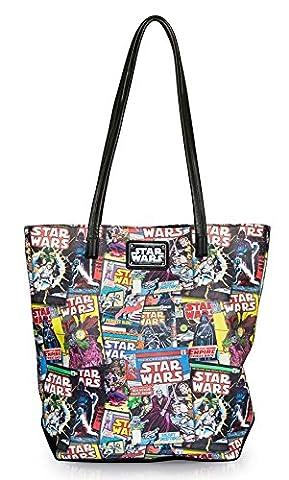 Star Wars Color Comic Print Faux Leather Tote Bag (Star Wars Rebel Bag)