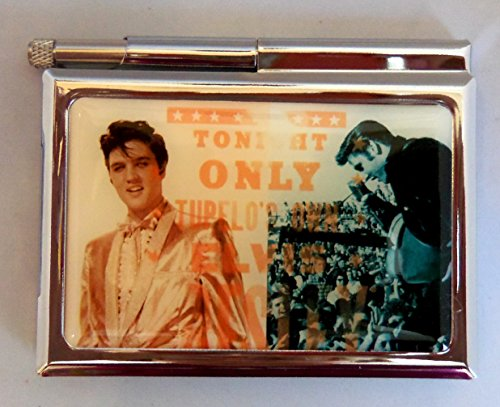 Elvis Presley Mini Metal Notepad Case with Pen and 1 Free - Slc Mall