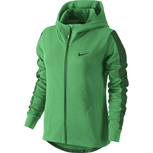 Nike Advance 15 Fleece Cape - Chaqueta para mujer verde (spring leaf / gorge green / gorge green)