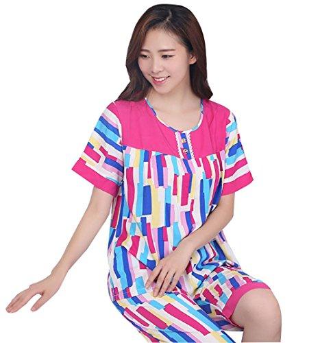 donna in cotone un I pigiami tempo libero stampati hanno il abbigliamento 4 da per AqtqXEn