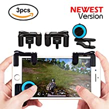 Mobile Game Controller Sesnsitive Shoot and Aim Keys Button L1R1 Shooter Controller for Fortnite / PUBG / Knives Out / Rules of Survival Cellphone Analog Latest Upgraded Version ( 1Pair + Joystick)