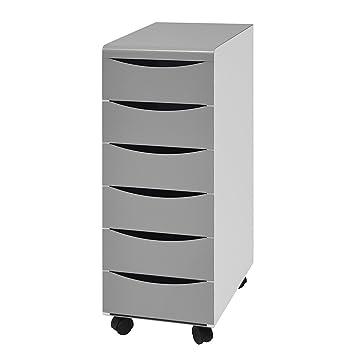 More Design BOX-6T-AL Cajonera de despacho, Metal laqueado ...