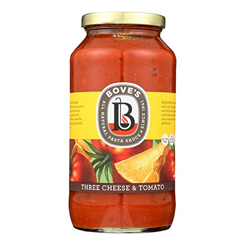 Bove's of Vermont Pasta Sauce - Three Cheese and Tomato - Case of 6 - 24 oz.
