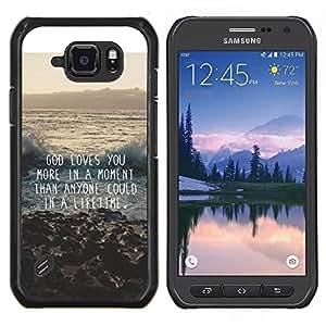Caucho caso de Shell duro de la cubierta de accesorios de protección BY RAYDREAMMM - Samsung Galaxy S6Active Active G890A - dios de motivación Cita de la inspiración