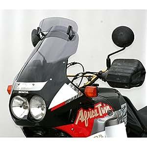 Cupula MRA Variotouringscreen HONDA XRV 750 AFRICA TWIN 90-92 gris ahumado Esta pantalla Touring lleva un spoiler manualmente ajustable en siete niveles hasta conseguir la posición deseada. Mediante la circulación trasera del spoiler, se alivia la presión del viento sobre el conductor y se reducen a la vez las turbulencias. EAN / núm. de pedido.:4025066085156 Color:gris ahumado longitud:450 mm(= +35mm) Impresión:- ABE:Yes Año de