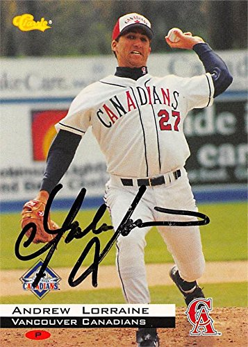 Andrew Lorraine Autographed Baseball Card Vancouver