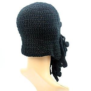 Giancomics Funny Tentacle Octopus Beanie Crochet Knit Beard Hat Wind