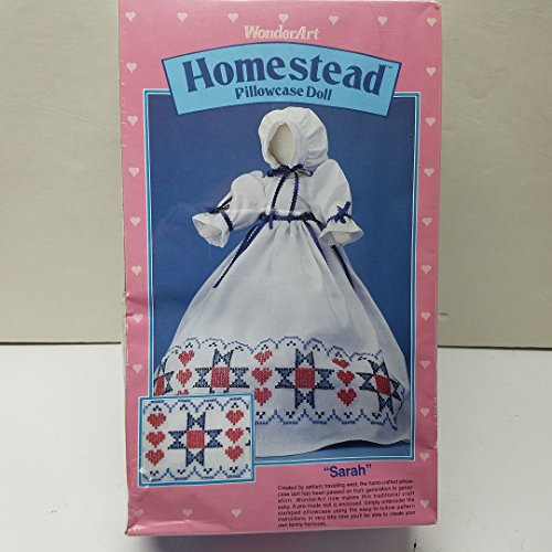 WonderArt Crafts Homestead Pillowcase Doll - Sarah Art #9703 by Pillowcase
