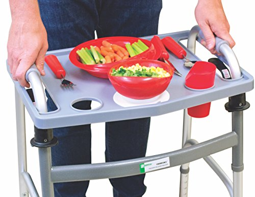 Essential Medical Supply Universal Folding Walker Tray with Cup Holders by Essential Medical Supply (Image #1)