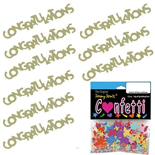 (Confetti Word Congratulations Gold - 2 Half Oz Bags (1 oz) Free Ship (7836))