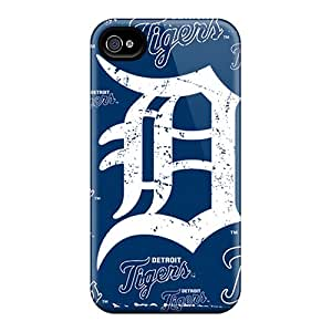 Premium Detroit Tigers Back Covers Snap On Cases For Iphone 4/4s