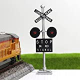 #9: JTD876RP 1set HO Scale Railroad Crossing Signals 4 heads LED made + Circuit board flasher