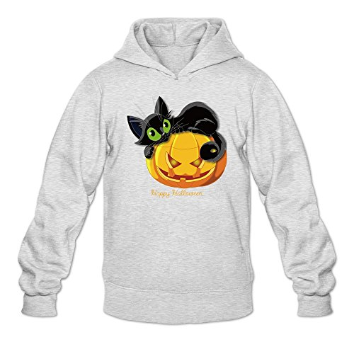 The Sims 3 Halloween (Men's Candy Leaves Cute Cat Pumpkin Halloween Hoodie Sweatshirt)