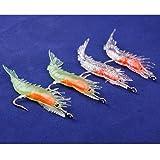 4Pcs-Silicone-Simulation-Noctilucent-Soft-Prawn-Shrimp-Fishing-Lure-Hook-Bait