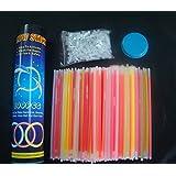 """DeliaWinterfel 100 Palillos Resplandecientes / Pulsera. 7 Mix de Colores. Clase Premium! -Fabricación Reciente! palitos resplandecientes de Colores! 8 """". Incl. 100 p [Version:x8.4] by"""