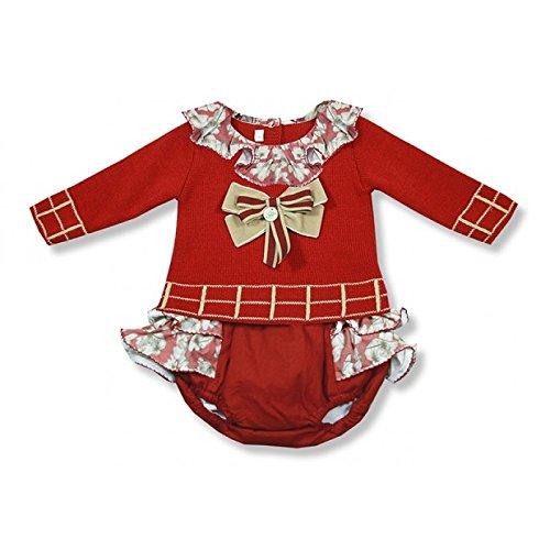 Foque Baby Girls - Traje de Punto para bebé, Color Rojo Rojo ...