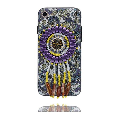 iPhone 6 Plus Custodia, 3D Bead accesorio, TPU Flexible unico Progettato Stile Nazionale, iPhone 6 Plus Copertura 5.5 case iPhone 6S Plus Cover 5.5 Polvere di polvere & tappi antipolvere evidente