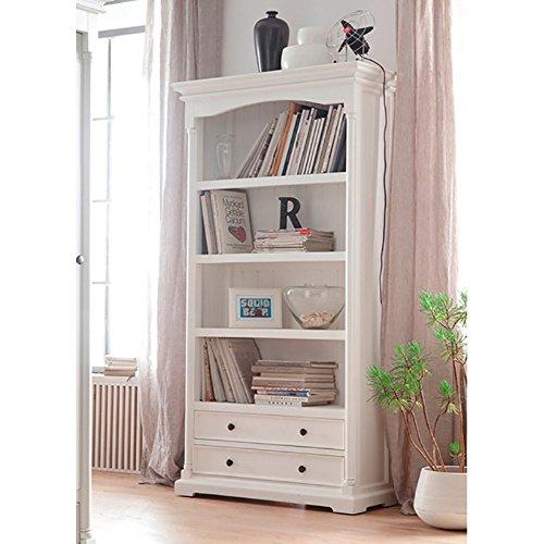 NovaSolo Provence Mahogany Bookcase, White by NovaSolo