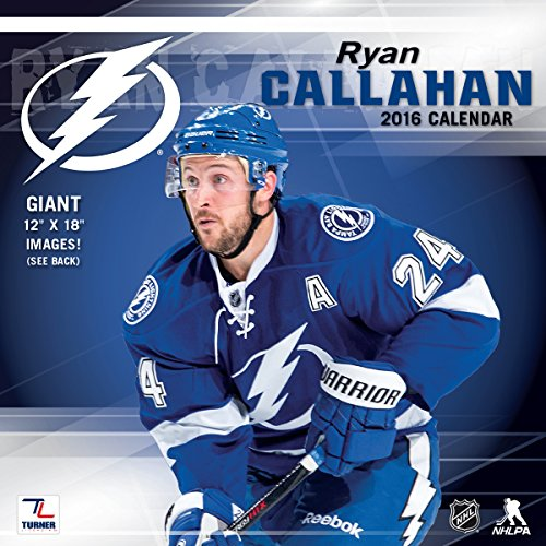 Turner Tampa Bay Lightning Ryan Callahan 2016 Wall Calendar, Sept. 2015-December 2016 (8011792)