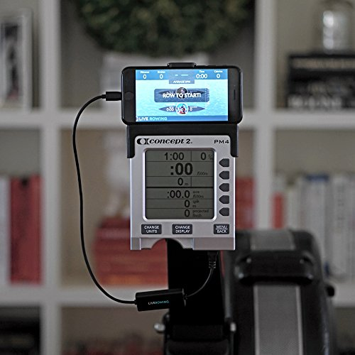 LiveRowing Concept 2 Rowing Machine Connect Cable for PM3, PM4, PM5 – Connect Your Smartphone to Your Erg Machine Performance Monitor – FREE LiveRowing App