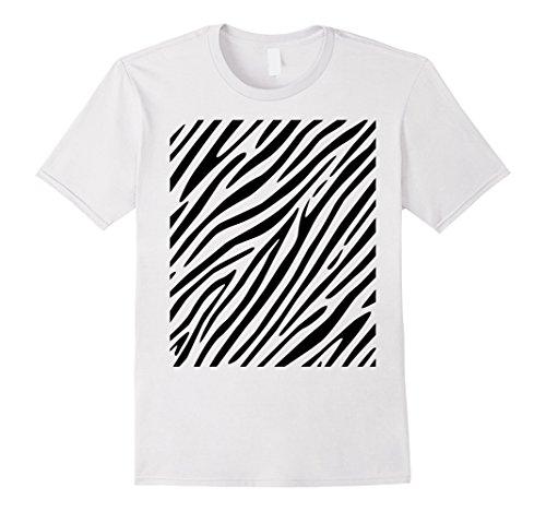 Mens Zebra Print - Simple Easy Halloween Costume Idea - Tee Shirt 2XL (Simple Halloween Costume Ideas For Men)