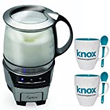 jura impressa x9 - Capresso 206.05 froth TEC Automatic Milk Frother with 2-Pack of Knox Mugs & Spoons
