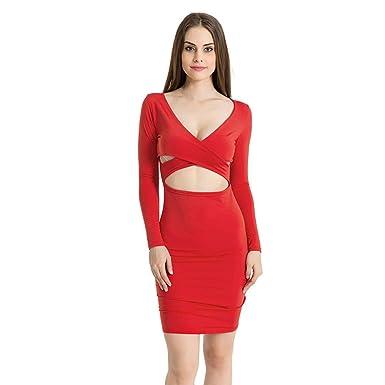 Amazon Com Hankyky Women S Sexy Deep V Cut Long Sleeve Cut Out