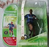 Brand New Official Merchandise Inter Milan Adriano Leite Ribeiro #10 Striker Football Figure by 3d Stars - Soccerserie .com