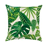 Green Tropical Plant Cushion Case Rest Pillow Cover - Pattern 1 45*45cm